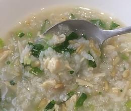 鲜菇鸡茸粥(术后休养饮食)的做法