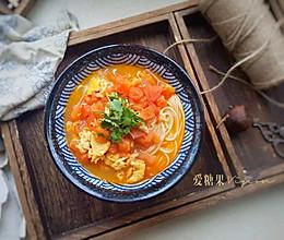 西红柿打卤面#10分钟早餐大挑战#的做法