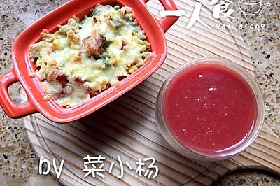 培根芝士焗饭(附蛋炒饭不硬秘诀)