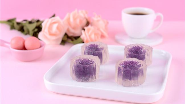 水晶紫薯月饼的做法