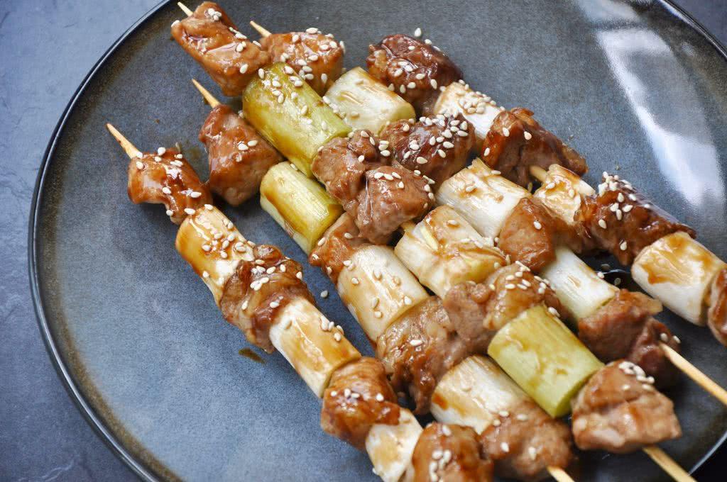 日式葱串烧