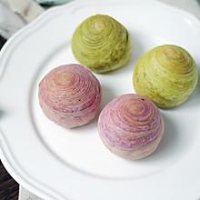 紫薯螺旋蛋黄酥