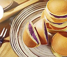 平底锅紫薯铜锣烧的做法