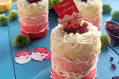 渐变奶油裸蛋糕——小朋友自制生日蛋糕