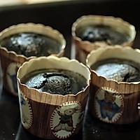 竹炭星空麦芬蛋糕#不思烤就很好#老板R015烤箱试用的做法图解11