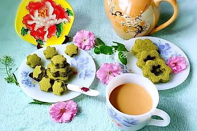 花朵抹茶蛋糕#最萌缤纷儿童节#