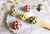 炫彩绣球肉松蛋黄酥#有颜值的实力派#的做法