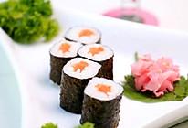 三文鱼寿司卷配日本酸姜的做法