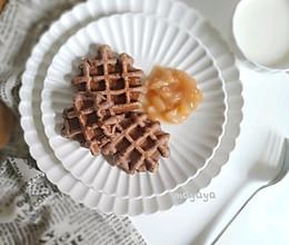 #母婴大咖#可可黑麦华夫饼的做法