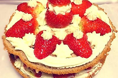 宝贝百天 草莓可可奶油蛋糕