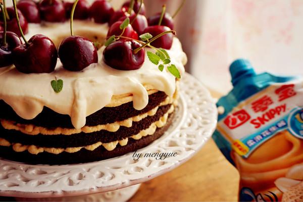 奶油花生酱巧克力蛋糕#趣味挤出来,及时享美味#的做法