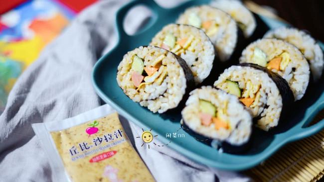 芝香寿司卷#丘比沙拉汁#的做法