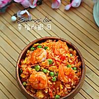 番茄虾仁炒饭的做法图解9