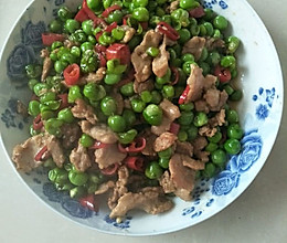 碗豆炒肉的做法