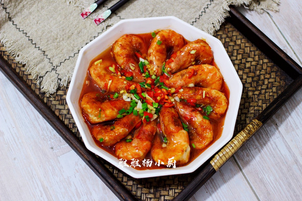 蚝油焖大虾