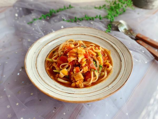 早餐来一碗浓浓番茄味的面条吧的做法