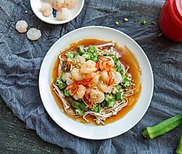 #春天肉菜这样吃#虾仁拌秋葵的做法