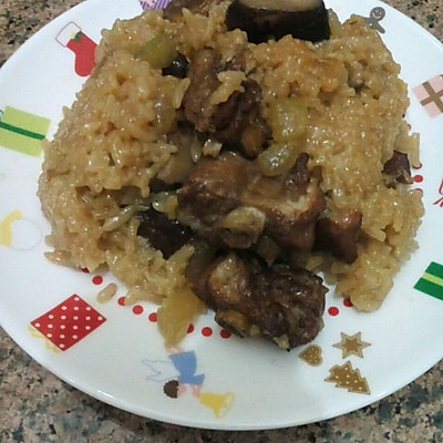 香菇土豆排骨糯米饭