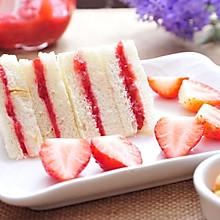 自制草莓酱三明治,三分钟搞定早餐