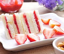 自制草莓酱三明治,三分钟搞定早餐的做法