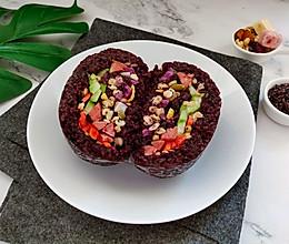 低脂饱腹又美味的紫米饭团的做法