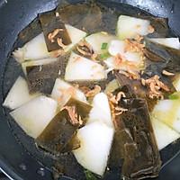 #花10分钟,做一道菜!#海带冬瓜虾皮汤的做法图解6