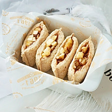 快手巧克力香蕉口袋三明治#10分钟早餐大挑战#