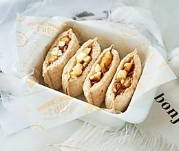 快手巧克力香蕉口袋三明治#10分钟早餐大挑战#的做法