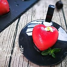覆盆子白巧克力心形慕斯蛋糕#我爱烘培#