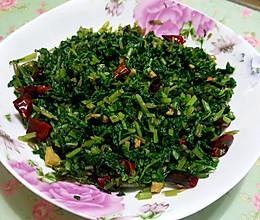 简单美味下饭菜——爆炒萝卜菜的做法
