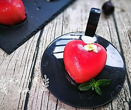 覆盆子白巧克力心形慕斯蛋糕#我爱烘培#的做法