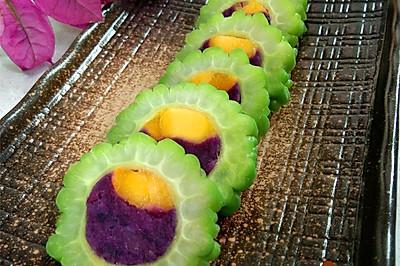 先苦后甜—芒果紫薯酿苦瓜