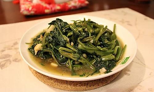 炒空心菜 菠菜 青菜的做法