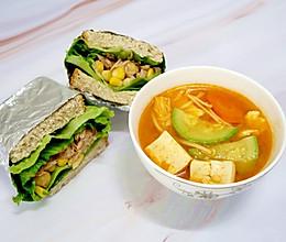 轻食餐之韩式大酱汤#父亲节,给老爸做道菜#的做法