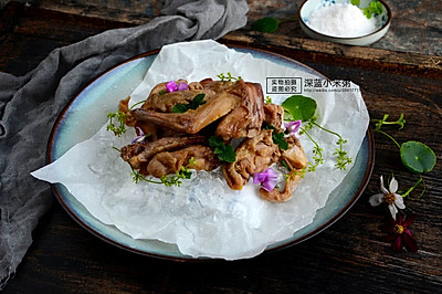 盐焗手撕兔肉#厨此之外,锦享美味#