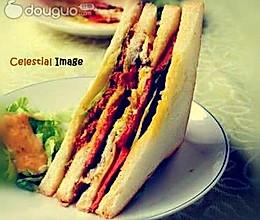 土司牛排三明治的做法