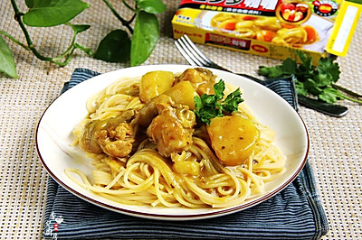 咖喱土豆鸡意面#百梦多圆梦季#
