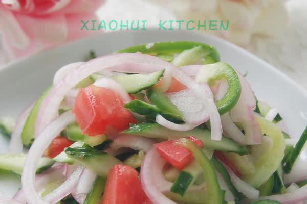 排毒瘦身第一菜【老虎菜】的做法