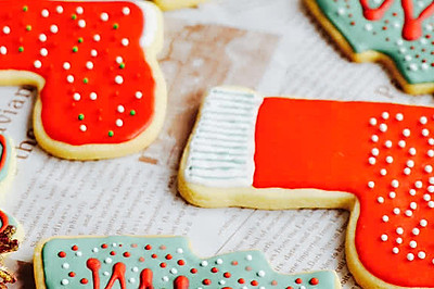 圣诞饼干(圣诞节的必备下午茶)——附圣诞树、圣诞袜及雪花
