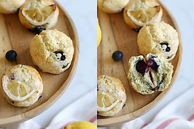 柠檬蓝莓司康-简单易做夏季清爽英式下午茶小甜点