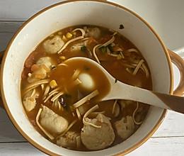 #一起加油,我要做A+健康宝贝#番茄鱼丸汤的做法