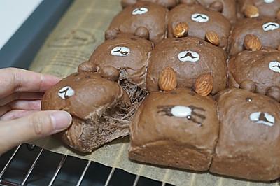 超级治愈的布朗熊可可面包(INS超火的挤挤包)