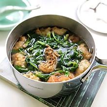 #初春润燥正当时#菠菜鱼块丸子汤