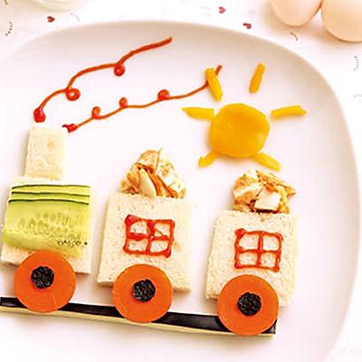 小火车创意三明治