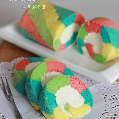让人心情愉悦的彩虹蛋糕卷(详细步骤)