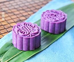 紫薯月饼 #中式点心开启你的回忆#的做法