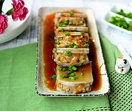 芋头肉夹:奉化芋头和荔浦芋头的做法
