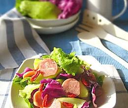 台式卤肠沙拉的做法