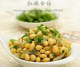 白萝卜丝炒黄豆的做法