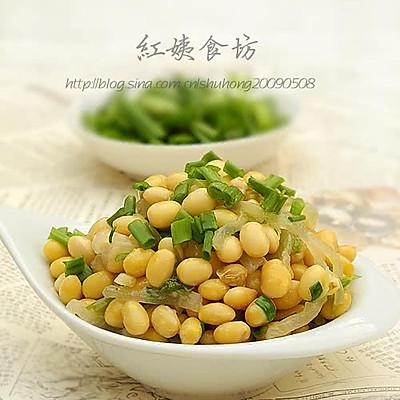 白萝卜丝炒黄豆